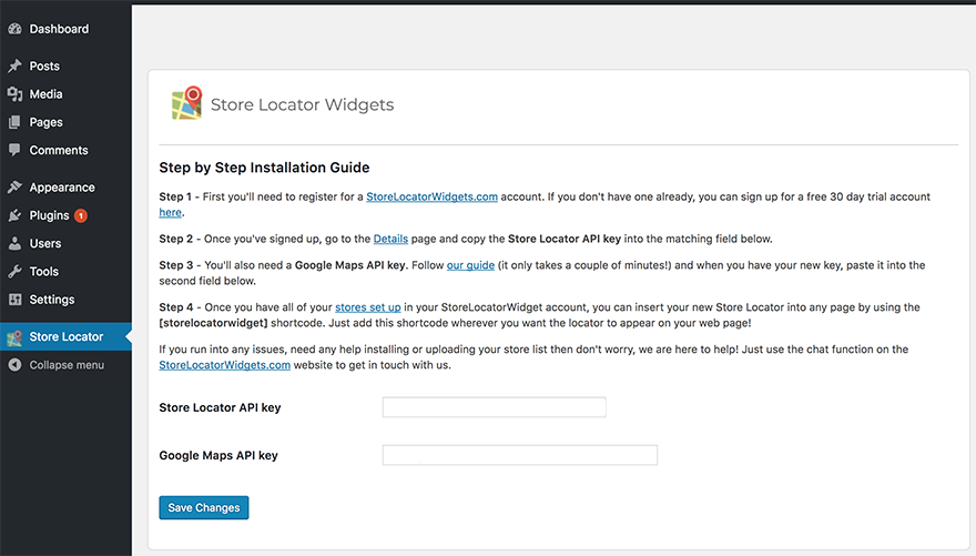 How Do I Install Store Locator Widgets On Wordpress Using A Plugin